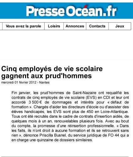 Cinq employés de vie scolaire gagnent aux prud'hommes - Nantes - Social - PresseOcean-1.jpg