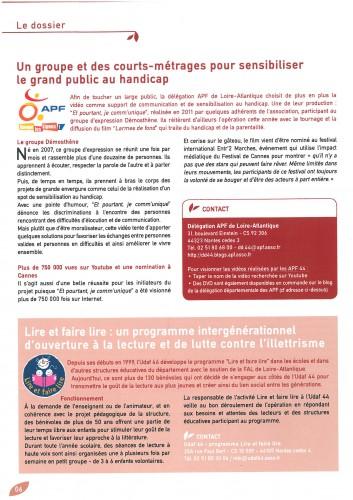 Un groupe et des courts métrages pour sensibiliser le grand public au handicap - Essentiel n°134 - Juin 2013.jpg